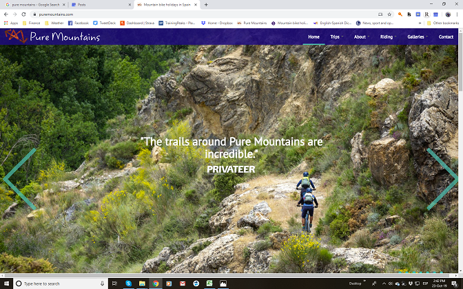 Pure Mountains website screenshot
