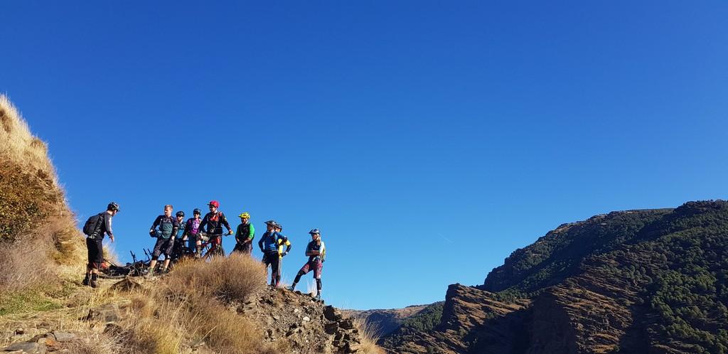Group mountain bike skills coaching
