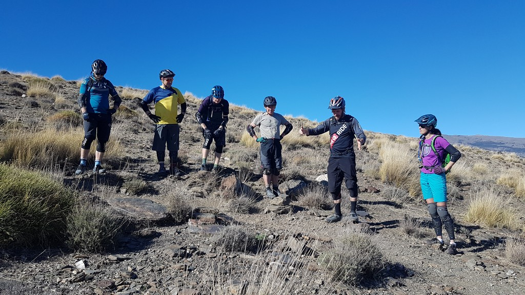 MTB skills coaching on the trail