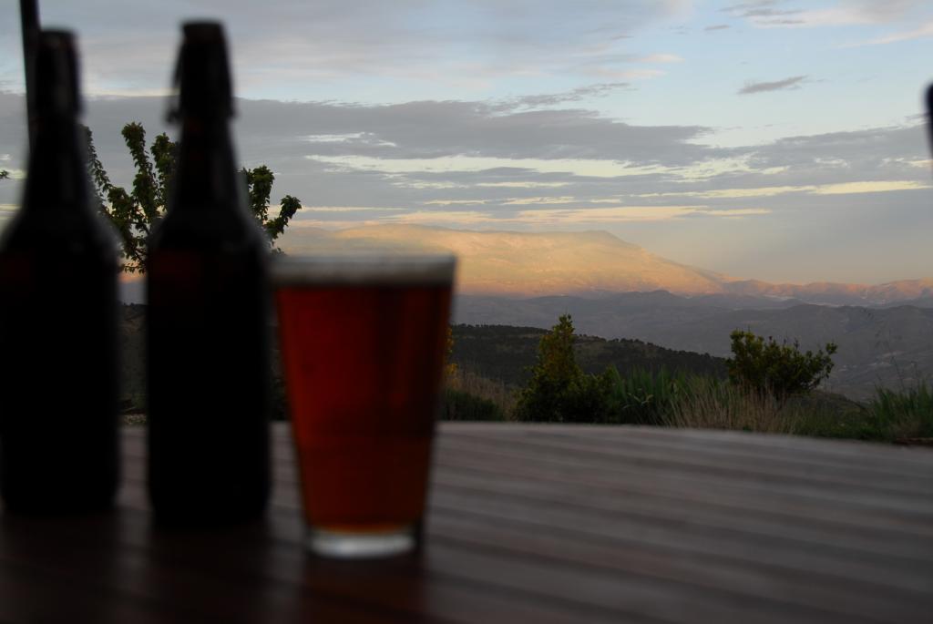 View through ale to Sierra de Gádor