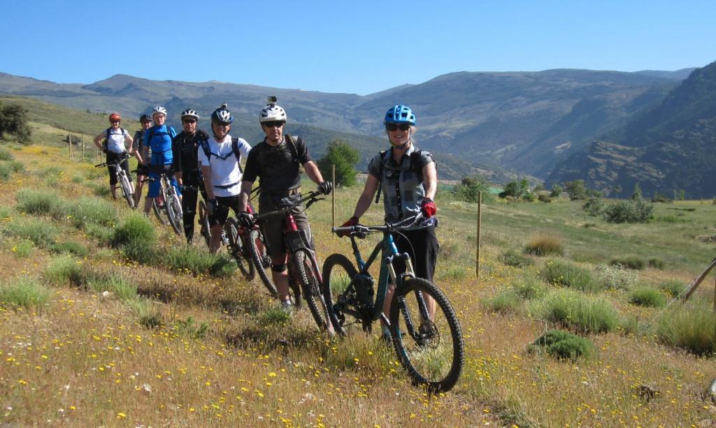 Group mountain biking holiday
