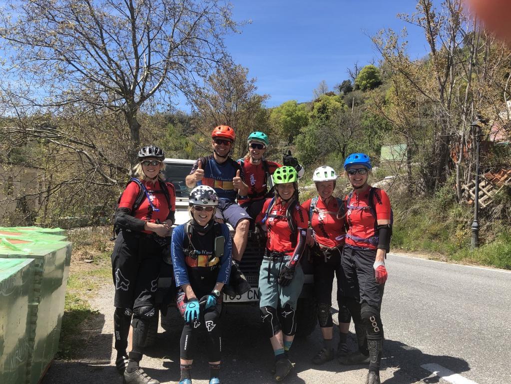 Mountain biking group holiday