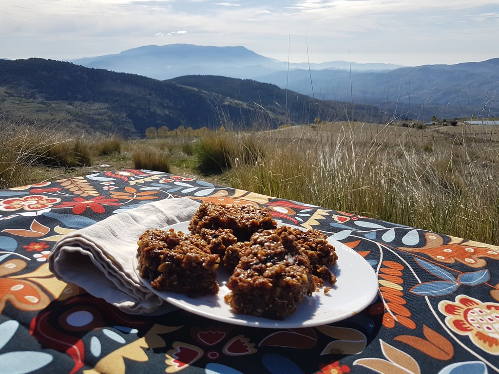 Homemade flapjacks: mountain biker's food