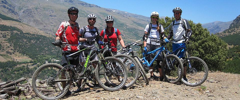 Mountain bike group holiday
