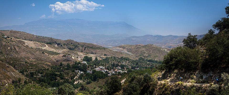 Mountain biking in big scenery: photo Chris Davies