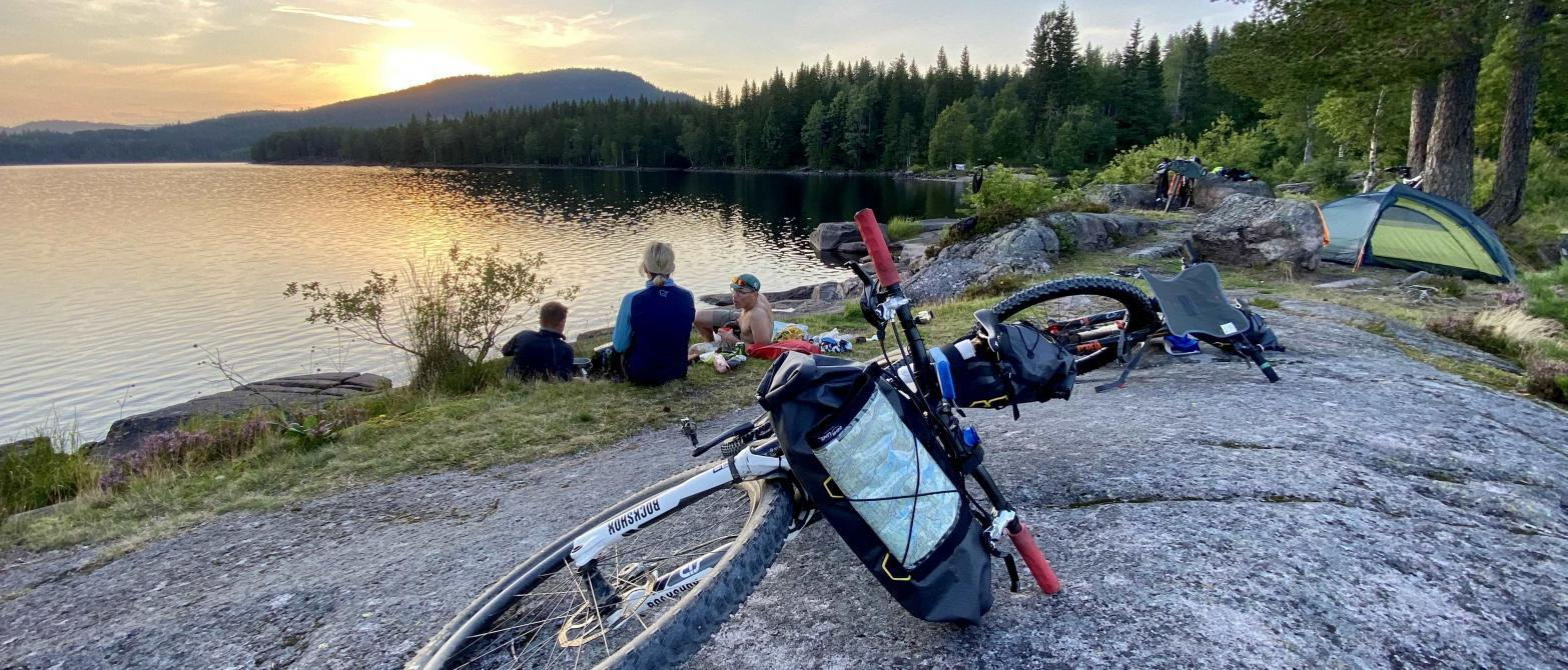BikepackingOslo wilderness near Oslo