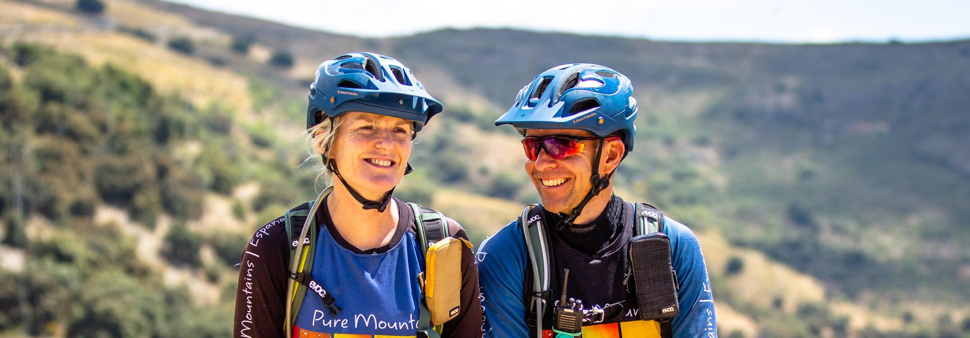 Pure Mountains Owners and Guides Jenny and Tim