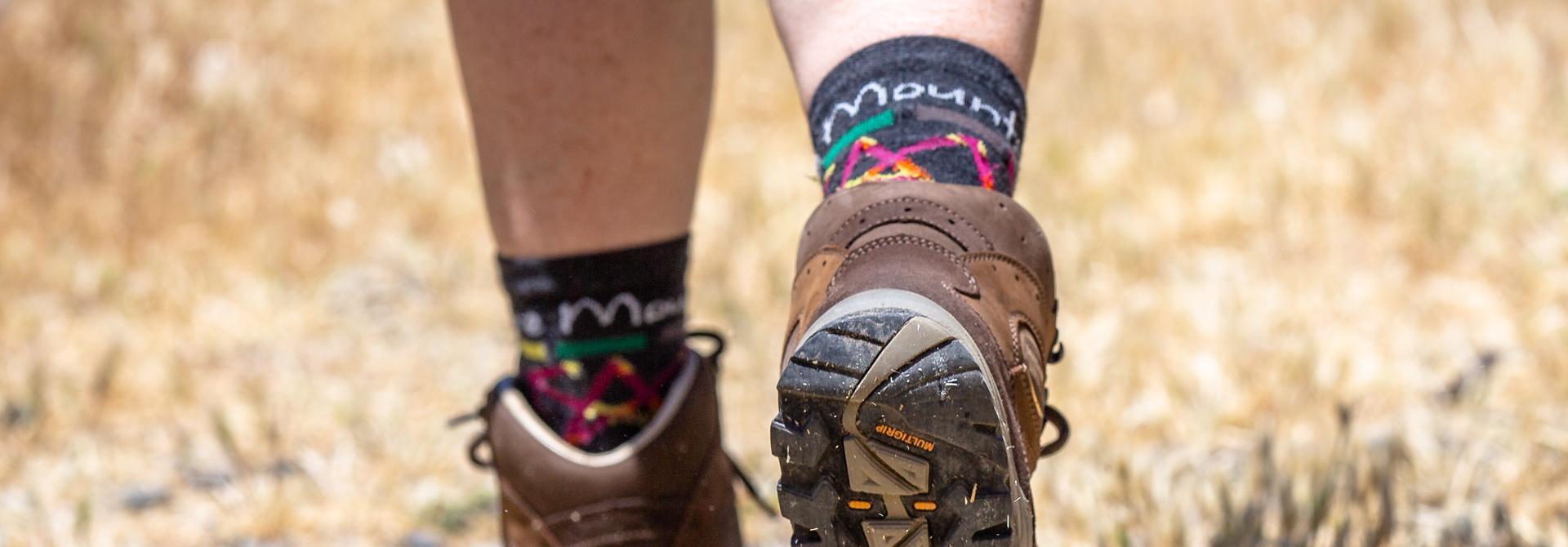 Hiking boots, PM socks